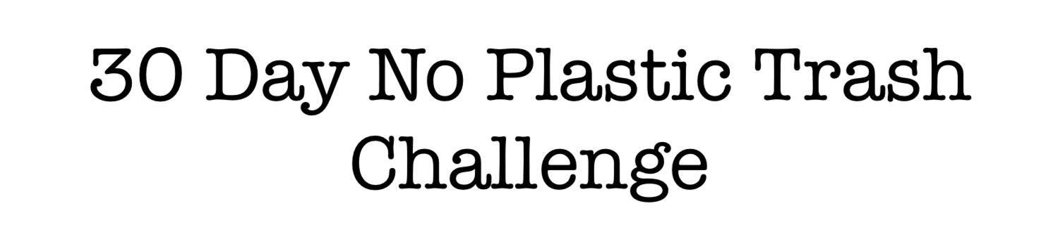 30 Day No Plastic Trash Challenge